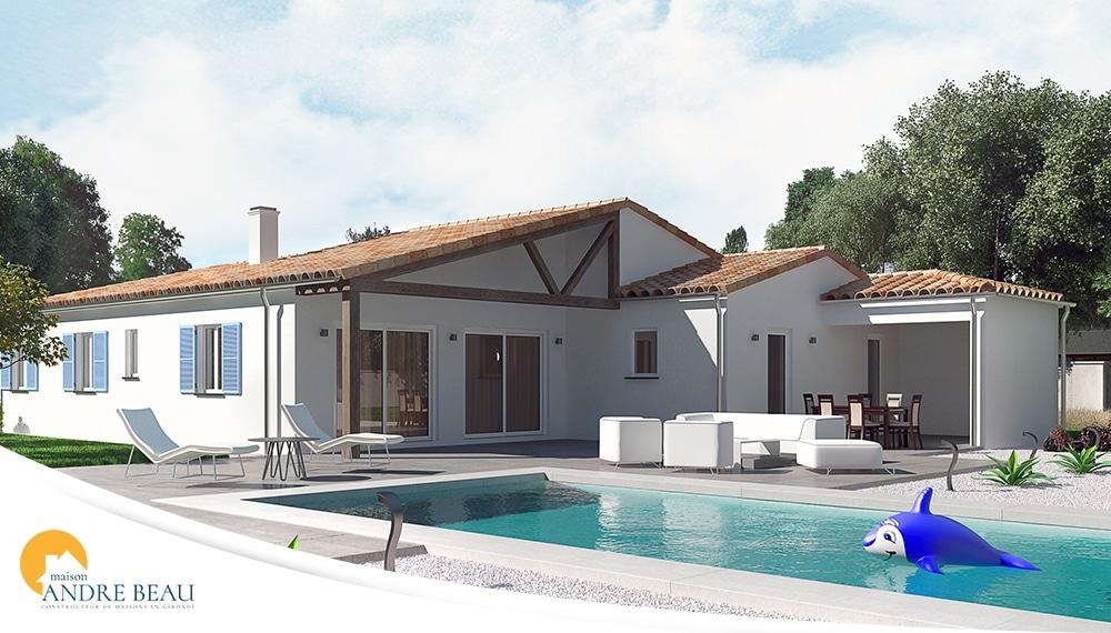 Hossegor maisons andre beau maison familiale gironde for Modele maison gironde